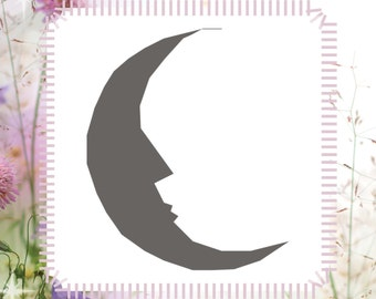 Moon DIY Reusable Stencil