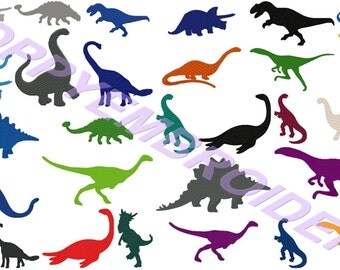 DINOSAUR Design for Embroidery machine  /  dinosaure motifs pour broderie machine / instant download