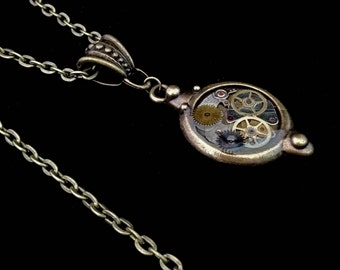 Victorian Steampunk Clockwork Necklace