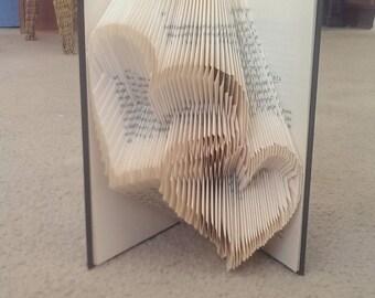Heart Folded Book Art/anniversary/birthday/boyfriend/girlfriend/book folding