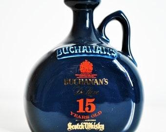 Vintage Whiskey bottle Buchanas (15 years old)