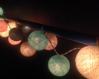 Mixed dark grey ball string lights for Patio,Wedding,Party and Decoration Patio Party Garden Spa Bedroom and Holiday lighting Indoor Outdoor