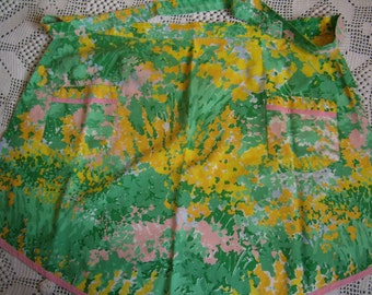 Retro apron Vintage French, homemade
