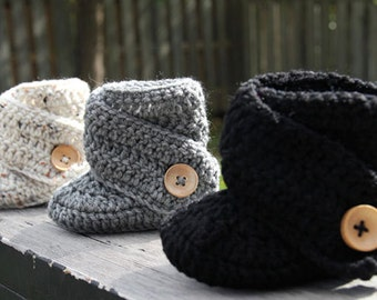 Croheted Baby Boots