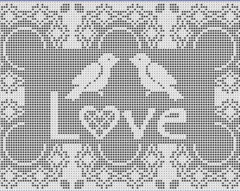 Love Birds: A Filet Crochet Pattern