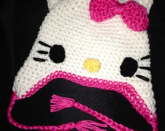 Hello Kitty crocheted hat infant to adult!