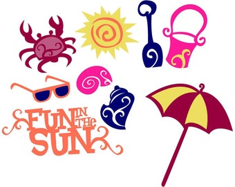 Beach / Swimming Vector Art SVG Files