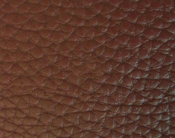 """Brown Textured PVC Leather 55"""" (Sold By The Yard)"""