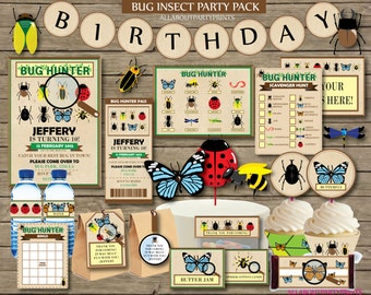 PDF format-Instant Download-Bug Insect Scavenger Party Pack Printables-for personal use only-digital file