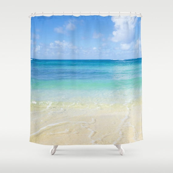 Ocean Shower Curtain - Hawaiian beach shower curtain - tropical ...