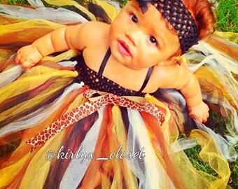Newborn Cheetah Tutu Dress 3-in1