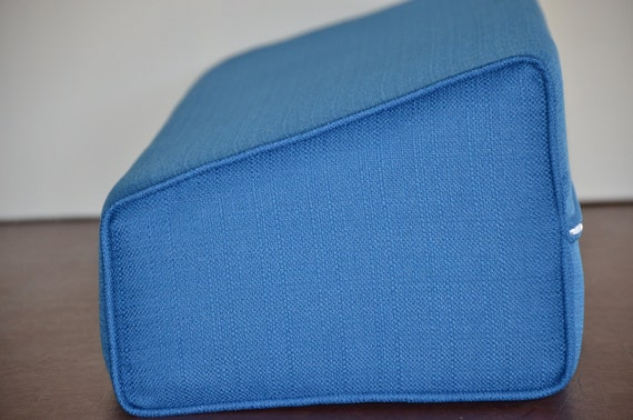 Daybed Wedge Bolster Foam And Cover Linen Pacific Blue