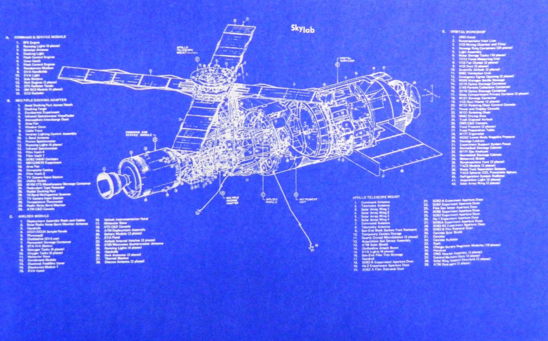 NASA Skylab Space Station Blueprint by BlueprintPlace2 on Etsy