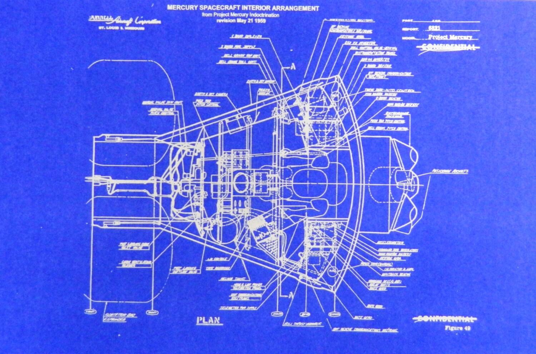 NASA Mercury Capsule Blueprint by BlueprintPlace2 on Etsy