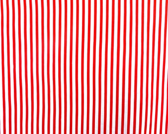 striped fabric, stripped fabric, red and white stripes striped fabric, chalk stripes, cotton 140cm