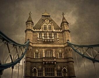 London, Tower Bridge, Fine Art Photography, England, London Photography, City, European, Europe, architecture ,Skeeter, hologram, wall art