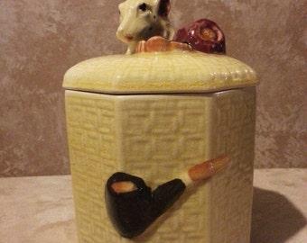 Tobacco Jar/Humidor Dog Head