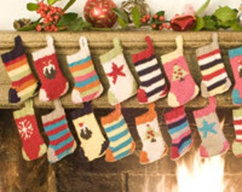 Christmas Stockings - Advent Bunting Knitting Kit