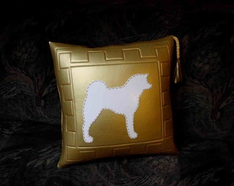 PILLOW COVER with Akita silhouette