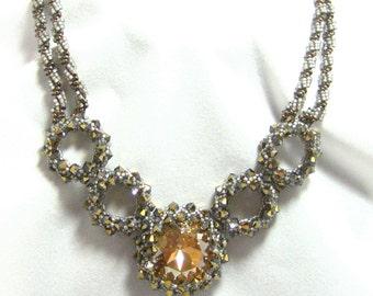Swarovski  5 Ring Crystal Pendant Necklace
