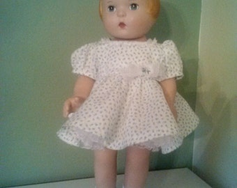 """Party Dress  with attached petticoat for 18""""  Daisy Kingdom doll"""