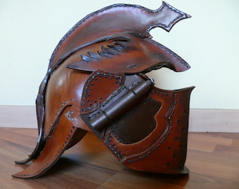 Leather Gladiator helmet