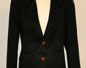 Vintage black blazer with golden buttons