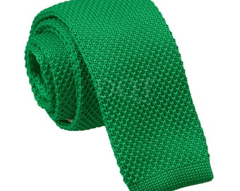 Knitted Forest Green Tie