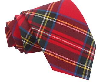 Tartan Red Royal Stewart Tie