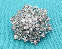 Wedding Brooch Embellishment Vintage Bridal Bouquet Broaches Gown Sash Hair Comb Cake Decor DIY Crafts Gatsby wedding Broaches