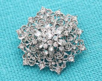 Wedding Brooch Embellishment Vintage Bridal Bouquet Broaches Gown Sash Hair Comb Cake Decor DIY Crafts Gatsby wedding Broaches