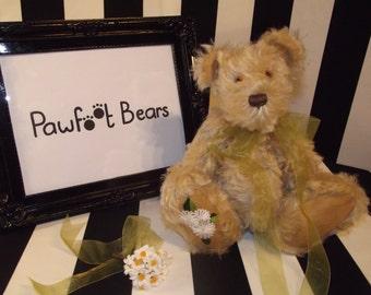 Pawfoot Bears 'Daisy', Traditional Handmade Bear introduced