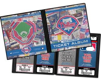 Personalized Philadelphia Phillies Ticket Album