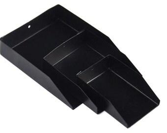 3 Pc (Black)Bead Scoop Set Diamond Shovel For Gemstones Seed Beads Jewelry Making Sizes 2,3,5 MEAS-0009