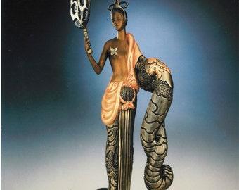 """Erte Bronze Sculpture """"Bamboo"""""""