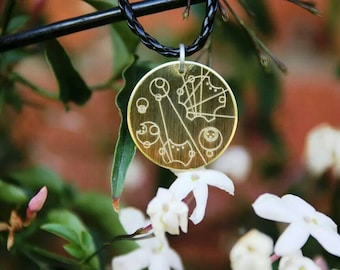 30mm Personalised Gallifreyan Pendant.