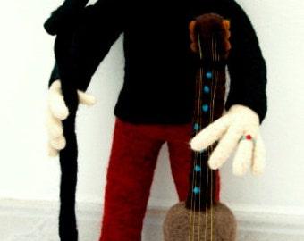 OOAK Needle Felted Doll - Singer