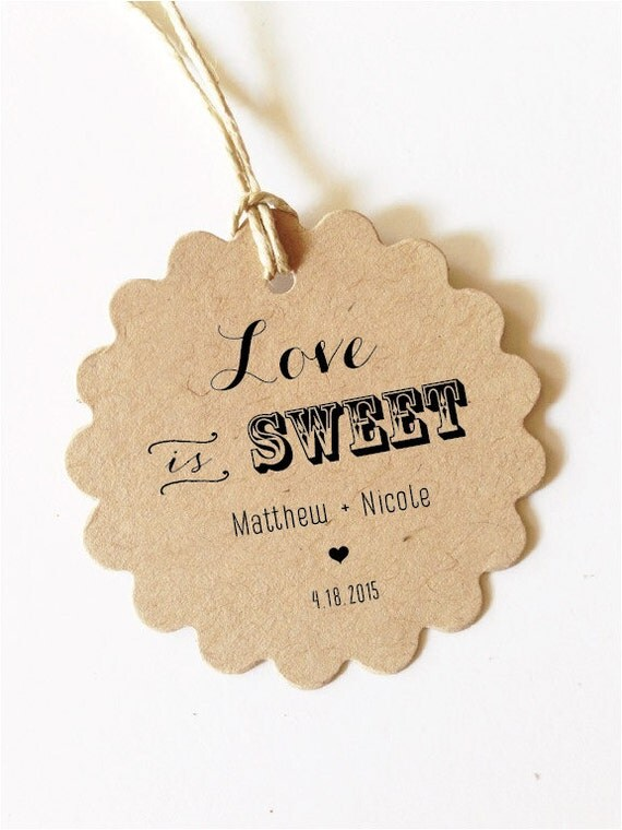 Love is sweet Tag Wedding Favors Tags Wedding Custom Gift Tags Custom ...
