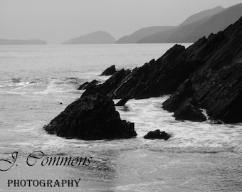 B&W Dingle Beach, Ireland, Ocean photography, beach photography, Ireland photography