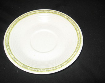 Franciscan Hacienda Green Saucer/Franciscan 1960's Dinnerware/Franciscan Vintage /Retro China