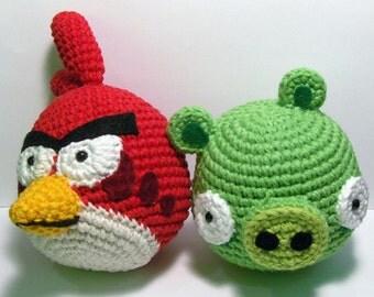 Amigurumi Angry Birds Space : CROCHET AMIGURUMI PATTERNS ANGRY BIRDS Crochet Patterns Only