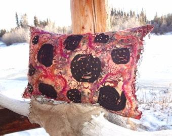 Stitch & Slash Accent Pillow - original design