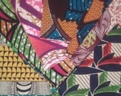 Beautiful fabrics 100% cotton wax typically African. For patchwork. 50 cm × 10 cm × 25 cm or 25 cm square cloths.