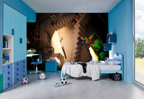 minecraft wall murals by inkyourwall on etsy 12399 | il 570xn 719417737 64ud