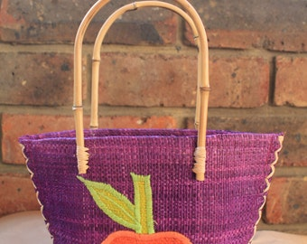 African small girls bag in vibrant colours.