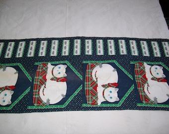 Greenwood 4 cat design vintage fabric pillow applique
