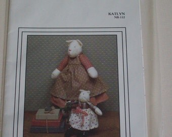 """The Cornell Collection """"Katlyn"""" NB-112 pattern,cat dolls,vintage"""