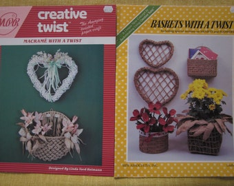 Creative Twist,Macrame With A Twist,Baskets With A Twist, twisted paper craft booklets