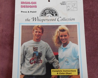 The Whisperwood Collection, Coach and Sports, iron on transfer designs,coach,tennis,bowling