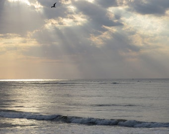 From the Heavens, Beach Photography, Rays of light, Nature of the sky, Ocean waves, Sunshine from above